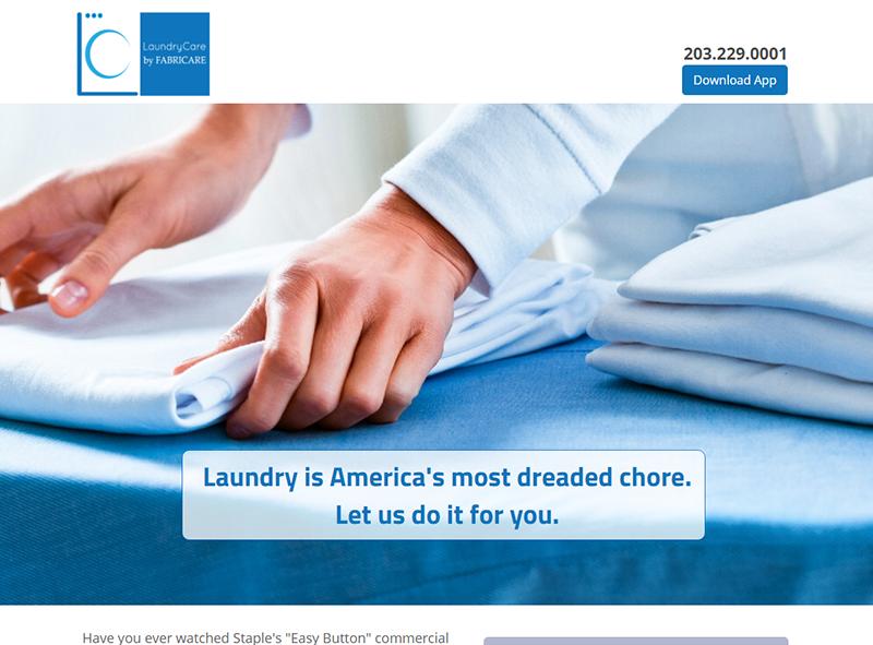 landingpagedesign_laundrycarebyfabricare
